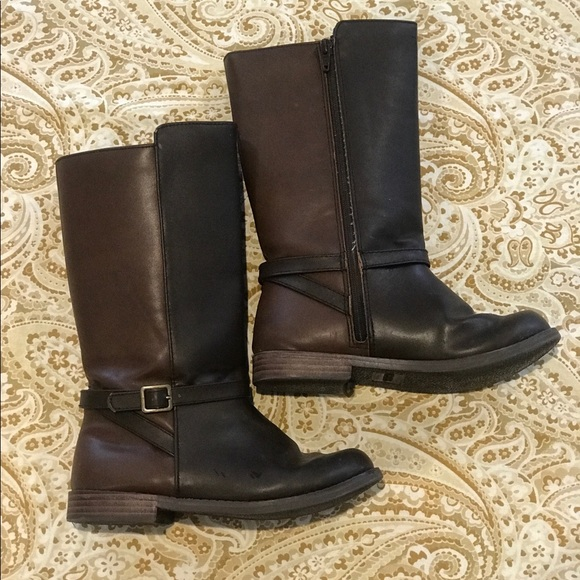 girls leather boots size 1